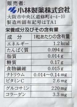 「グルコサミン&コラーゲンセット」成分表示