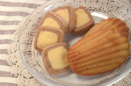 さくさくクッキーと、しっとりマドレーヌ、どちらも糖類ゼロ!