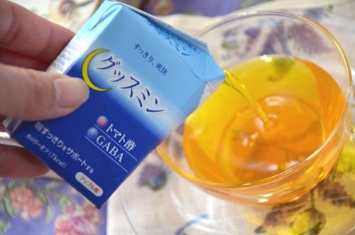 トマト酢とGABAを配合した、低カロリー飲料「グッスミン」