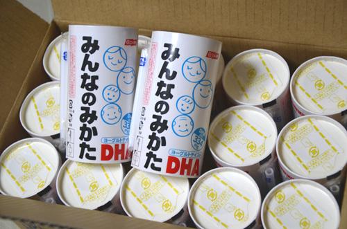 ヨーグルト味の、DHA配合ドリンク「みんなのみかた」