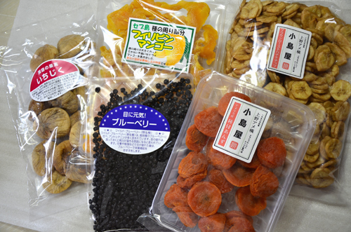 上野アメ横「小島屋」の、厳選ドライフルーツセット(3,000円)