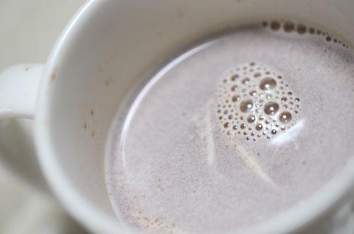 ヌテラと豆乳で、へーゼルナッツ豆乳ココア