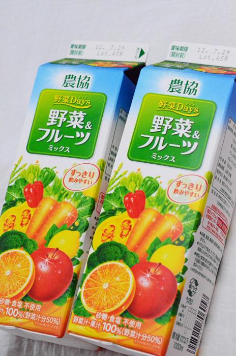農協 野菜Days 野菜&フルーツミックス(1,000ml)×2本 288円