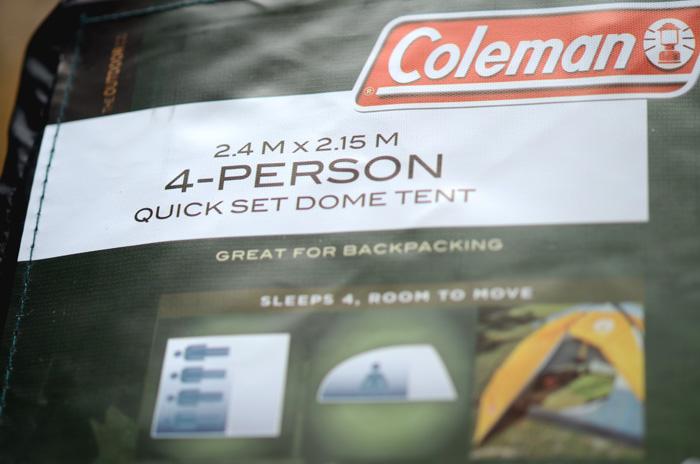 Coleman 4人用ドーム型テント 2.4メートル×2.15メートル