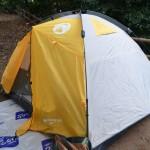 コストコのコールマン4人用テントとスクリーンタープを、ジョイントフラップで繋いで使ってみた