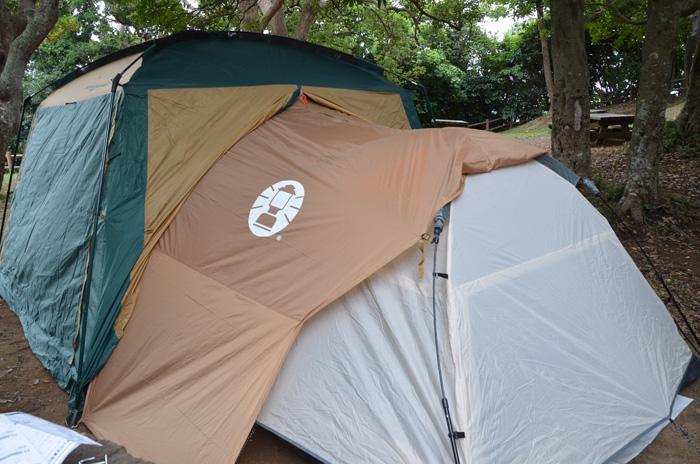 テントとタープを繋ぐ
