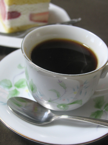 出来上がり!食物繊維がたっぷり入ったコーヒーです