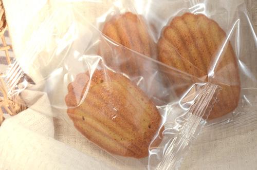 一つずつ包装された、低糖マドレーヌ