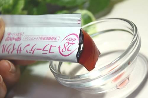 ぷるぷるコラーゲンゼリーは、ラズベリー味