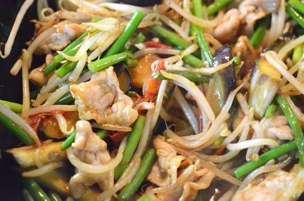 豚肉と野菜のオイスター炒め