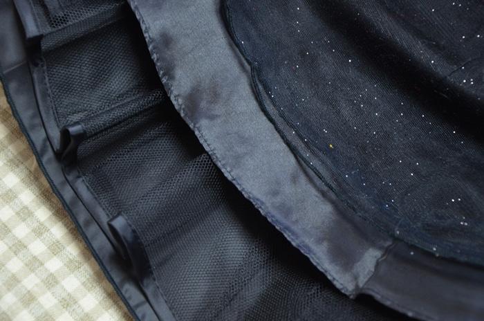 三重構造のスカート